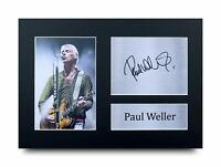 Paul Weller Signed Pre Printed Autograph Photo Gift For a Rock Fan