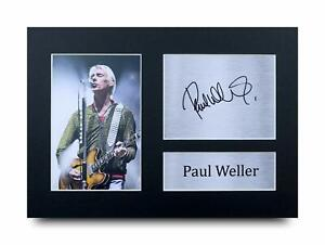 Paul Weller Signed Pre Printed Autograph A4 Photo Gift For a Rock Fan