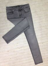 LEI ASHLEY TROUBLE SKINNY JNR Sz 7 LOW GRAY STRETCH JEANS ACTL 29X31 EUC A88