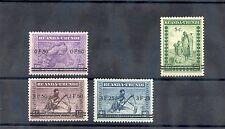 RUANDA-URUNDI Sc 56-9(MI 65-8)**F-VF NH 1941 SURCHARGE SET $225