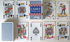 PLASTIC COATED 'CADET' POKER BRIDGE CANASTA 54 (2 JOKERS) PLAYING CARDS - p04!!