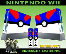 NINTENDO WII PEGATINA GRAN POKEBALL POKEMON GO Catch 'em ALL SKIN & 2 PAD Skins