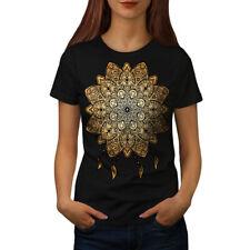 Wellcoda Mandala Yoga Para Mujer T-Shirt Tee Casual de diseño impreso, Espiritual