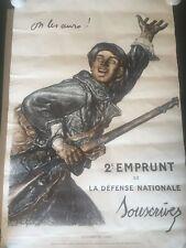 More details for wwi french war poster 'on les aura! 2e emprunt de defense nationale vintage 1969