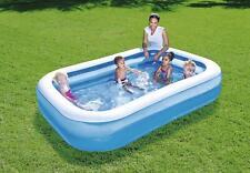 Bestway Inflatable 2.62m (8.7ft foot) Rectangular Family Swimming Paddling Pool
