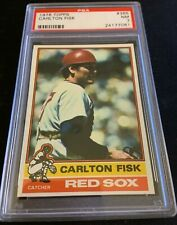 "🔥 CARLTON FISK 🔥 1976 Topps #365 ""High Grade"" - RED SOX HOF! - PSA NM 7"