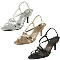 Donna Spot On Tacco Medio 'Sandalo con Cinturino Posteriore'