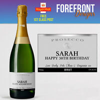 Personalised Prosecco bottle label, Perfect Birthday/Wedding/Anniversary Gift