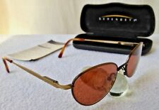 """vint. SERENGETI """"6474, Endeavor"""" sunglasses, satin bronze frame & sienna lenses"""