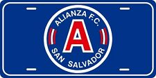Alianza FC El Salvador License Plate Metal Calcomania San Salvador Team Sports