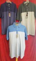 Bollé Men's Colorblock Performance Polo Shirt Med & Dark Blue & Gray Pick Size