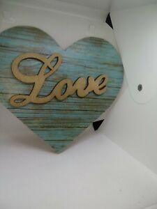 Rustic Heart Decor Wooden Heart Sign Heart Wall Hanging