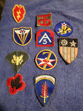 10-WWII US Military Army Airforce Chinese India Patches