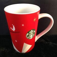Starbucks Coffee Holiday Christmas Tall Mug 2012 Red White Partridge Green Siren
