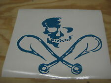 Fish hook and skull decal