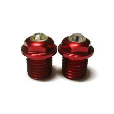 gobike88 XON Swarovski Crystal Pivot Bolts, M10XP1.25X10, Red, N81