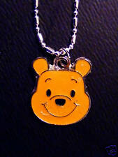 winnie the  Pooh head figure charm Chained Necklace