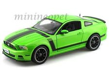 COLLECTIBLES 453 2013 FORD MUSTANG BOSS 302 1/18 GREEN with BLACK STRIPES