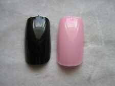 80 x COMPLET FALSE ongles- ROSE/NOIR FAUX ONGLES