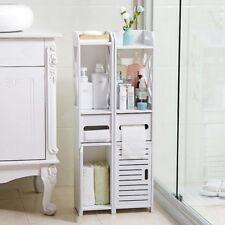 Bathroom Storage Cupboard Unit Cabinet Shelves Basin White Furniture Stand
