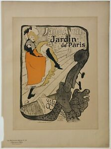 Original Vintage Poster JANE AVRIL Paris Maitres de L'Affiche TOULOUSE LAUTREC