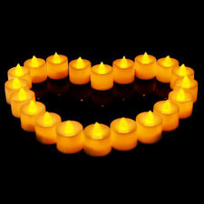 24x LED Battery Powered Party Floral Flickering Twinkling Tea Light Warm Candles