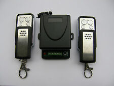 Universal 1-ch receiver + 2 remotes for roller shutters, gates, alarm systems
