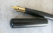RARE VINTAGE DANIEL'S BLACK EBONITE FP - SOLID GOLD 18 CARATS NIB 09 BIG SIZE