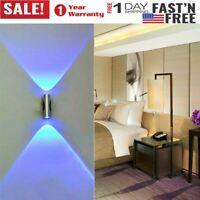 Mini Double-headed LED Wall Lamp Home Bar Porch Wall Decor Blue Ceiling Lights