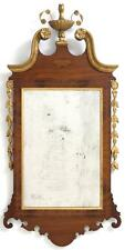 Chippendale-Style Mirror Mahogany veneer frame with fruitwood and sa. Lot 1244