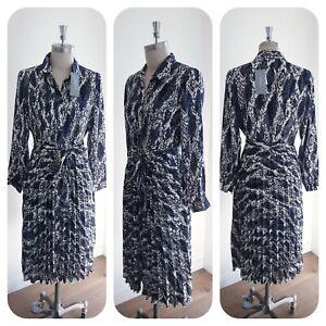 BNWT TRENERY CR abstract snake Dress, Size 8 10 12 16, XS S M XL women's, rr$199
