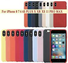 Funda Carcasa Silicon Compatible Con Apple Iphone 6 6S Plus 7 8 XR XS 11 Pro Max