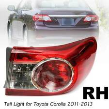 Right Side For Toyota Corolla 2011-2013 Outer Red Lens Tail Light Brake Lamp