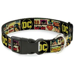 NEW RETRO DC COMICS DOG COLLAR BATMAN SUPERMAN.. LICENSED CHOOSE SIZE