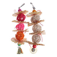Colorful Parrot Chew Strands Bite Teeth Ball Bell Attractive Bird Parakeet T`AU