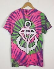 MENS STAY SICK DIAMOND ANCHOR TIE DYE BRIGHT BOLD CRAZY HXC T SHIRT TOP UK S
