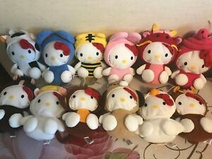 Hello Kitty 12 sets plush doll toys From Japan