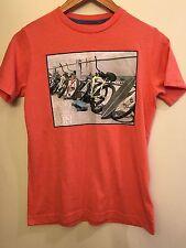 Bring On The Sun Bike Bicycle Graphic T Shirt Tee Kids Large Orange Old Navy Top