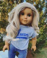 Custom American Girl Doll Julie Albright Brown Eyes Blonde Hair OOAK