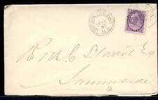 CHARLOTTETOWN & TIGNISH M. C.  1899 2c purple numeral issue cover Canada