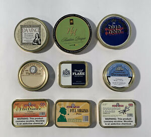 Empty Pipe Tobacco Tins
