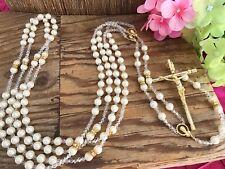 CRYSTAL PEARLS WEDDING LASSO gold plated/LAzO DE BODA EN PERLAS