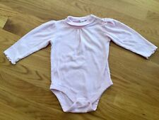 Size 18-24m pink MOCK NECK RUFFLED SNAP BUTTON CROTCH body suit by BABY GAP