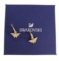 New Authentic SWAROVSKI Gold  Fit Wonder Women Hoop Pierce Earrings 5522301