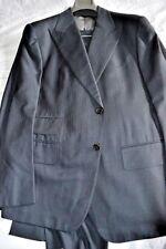 $4.8k NWT TOM FORD 44 eu54R Midnight BLUE Herringbone 1/2 Lined Fit D wool suit