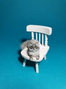 OOAK Realistic persian  cat Dollhouse Handmade IGMA ARTISAN