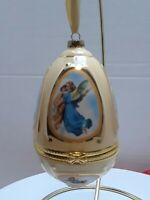 Mr Christmas Valerie Parr Hill Musical Egg Christmas Ornament Angels