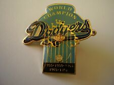 Collectible Metal Pinback World Champion Dodgers with Embossed Crown