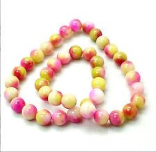 15 Jade Beads Dyed Multi Color Gemstone Beads 10mm - BD253