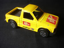 Yellow Diecast Plastic Tootsietoy Chevy S-10 Dr. Pepper Toy Pick Up Truck Toy